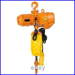 0.5Ton 1100LBS Electric Chain Hoist 1 Phase 110V 10FT withLimit Switch Building