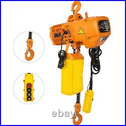 0.5Ton Electric Chain Hoist 1 Phase 110V 10FT Building Anti-rust 1100LBS