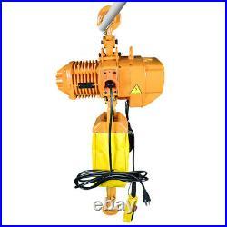 1 Ton Electric Chain Hoist 2200 LBS Electric Crane Hoist 10ft Lift High Speed