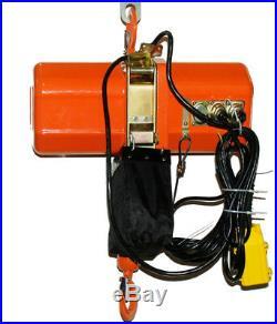 1 ton Electric Chain Hoist 2000 lb. Electric crane hoist HD Super 2000 20ft Lift