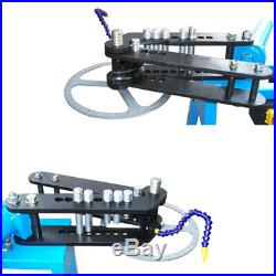 10 Ton Electric Hydraulic Pipe Tube Bender Tubing Bending Round Tube Die 110 V