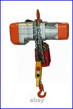 1000 LB Electric Chain Hoist 1/2 ton 110V electric crane hoist, 20ft chain NEW