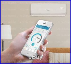 12,000 BTU Ductless Air Conditioner, Heat Pump Mini Split 220V 1 Ton WithKit&WiFi