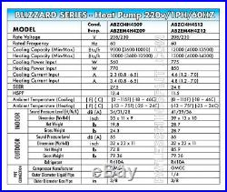 12,000 BTU Ductless Mini Split Conditioner Heat Pump 24.8 SEER 220V AirCon 1 Ton