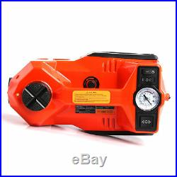 12 Volt Car Hydraulic Electric Floor Jack Tire Inflator Impact Wrench Tool 4 Ton