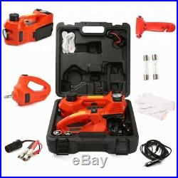 12 Volt Electric CarJack 3 Ton (6klbs) Electric Hydraulic Jack and Impact Wrench