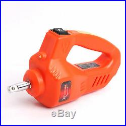 12 Volt Electric Floor Jack 3 Ton, 2 in 1, Orange Tire Inflator Impact Wrench