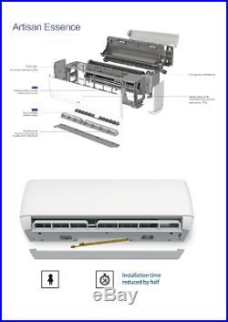 12000 BTU Ductless Air Conditioner, Heat Pump Mini Split WIFI 1 Ton 12 ft Kit