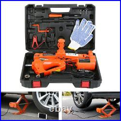 12V 3Ton Car Jack Lift Electric Hydraulic Floor Jack Impact Wrench Tire Tool Kit