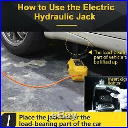 12V 5 Ton Automotive Electric Hydraulic Car Floor Jack Impact Wrench Tools Kit