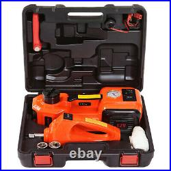 12V 5 Ton Electric Hydraulic Car Floor Jack Impact Wrench Tire Inflator Pump Kit