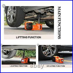 12V 5 Ton Tonne Electric Hydraulic Floor Jack Lifting for Car Van Garage Repair