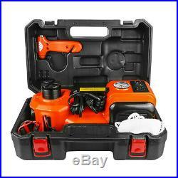 12V 5Ton Car Electric Jack Hydraulic Floor Lift Roadside Scissor Repair Tool
