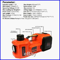 12V 5Ton Car Jack Electric Hydraulic Floor Jack With Impact Wrench Air Infatable