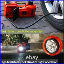 12V 5Ton Electric Hydraulic Car Floor Jack with Impact Wrench Air Inflator Pump