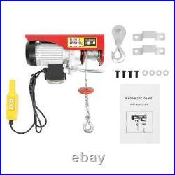 1320 LBS Electric Cable Hoist Crane Lift Garage Auto Shop Winch with Remote 3/5Ton
