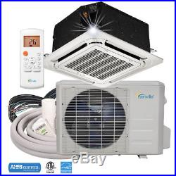 18000 BTU Ductless Mini Split Air Conditioner Ceiling Cassette 1.5 TON