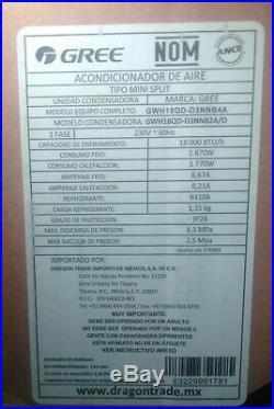 18000 BTU, MINI SPLIT AIR CONDITIONER, DUCTLESS, HEAT \ PUMP, 220v, 1.5 TON