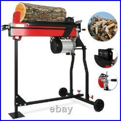 2.2KW Electric Hydraulic Log Splitter & Guard 7 Ton Fire Wood Timber Cutter