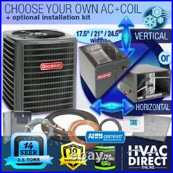 2.5 Ton 14 SEER Goodman Air Conditioner GSX140301 + Build Your Own Coil Kit AC