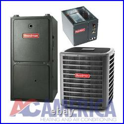 2.5 Ton Gas Furnace Goodman 60K Btu 96%14 SeerGSX140301 GMES960603BN CAPF3137B6