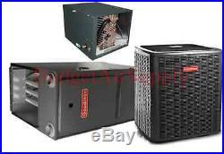 2.5 Ton Goodman 13 seer 95/96 % 60K BTU Gas Furnace HORIZONTAL GMSS960603BN