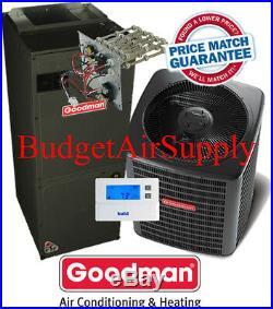 2.5 ton 14 SEER Goodman Heat Pump GSZ14030+ARUF31B+FLUSH+410a+25ft INSTALL KIT