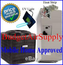 2.5 ton 14 SEER ICP/Grandaire MOBILE HOME APPROVED A/C Split System+UV+HeatStrp