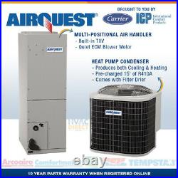 2 Ton 14.5 SEER AirQuest-Heil by Carrier Heat Pump System with Install Kit