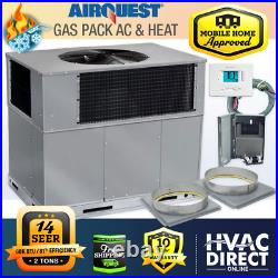 2 Ton 14 SEER 60K BTU AirQuest-Heil by Carrier Gas Package Unit Install Kit