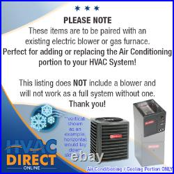 2 Ton 14 SEER Goodman Air Conditioner GSX140241 + Build Your Own Coil Kit AC