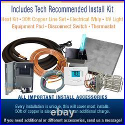2 Ton 14 SEER Goodman Heat Pump System Complete Install Kit, Free Accessories