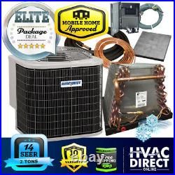 2 Ton 14 SEER Mobile Home AirQuest-Heil by Carrier AC+Coil System Line Set Kit