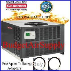 2 Ton Goodman 14 seer Gas/Elec Package Unit 81% 60K Btu GPG1424060M41 Gaspack