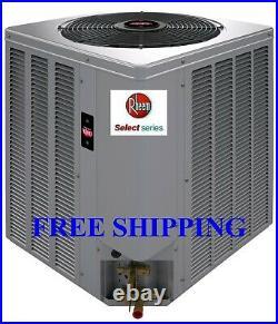 2 Ton R-410A 14SEER Rheem Select A/C Condensing Unit & Evaporator Coil