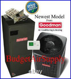2 ton 14 SEER 410 Goodman A/C System GSX14024+ARUF29B14 +25ft LineSet+HeatStrip