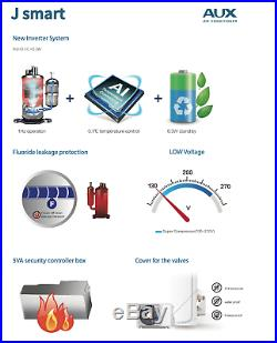 24000 BTU Ductless Air Conditioner, Heat Pump Mini Split WIFI 2 Ton 25 ft Kit