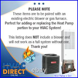 3.5 Ton 14 SEER Goodman Mobile Home Approved AC Heat Pump Condenser and ADP Coil