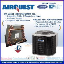 3.5 Ton 14 SEER Mobile Home AirQuest-Heil by Carrier Heat Pump A/C & Coil