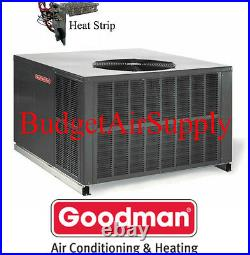 3.5 Ton 16 seer Goodman HEAT PUMP MULTI POSITION Package Unit GPH1642M41+Heat+