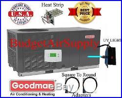 3.5 Ton(3 1/2)14 seer Goodman HEAT PUMPAll in OnePackage Unit GPH1442H41+sq2rd