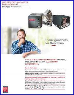 3.5 Ton Goodman 14 SEER 80% AFUE Dual Fuel Heat Pump 80K BTU System GSZ140421
