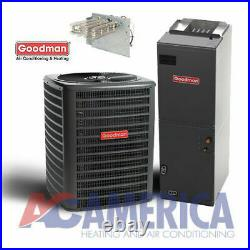 3.5 Ton Heat Pump Goodman 14 Seer Split System GSZ140421 ARUF43C14 50