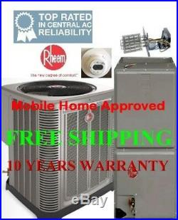3.5 Ton R-410A 15 SEER Rheem Complete Mobile Home Heat Pump System Include Heat