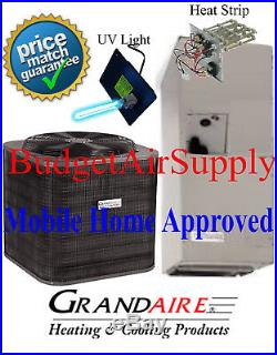 3.5 ton 14 SEER HEAT PUMP ICP/Grandaire MOBILE HOME APPROVED Split Syst+UV+Heat