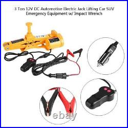 3 Ton 12V DC Auto Electric Jack Lifting Car SUV Emergency Tool with Impact Wrench