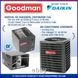 3 Ton 14 SEER Goodman Air Conditioner GSX140361 + Build Your Own Coil Kit AC