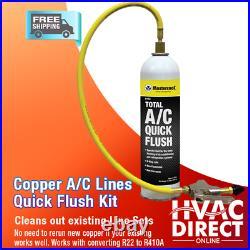 3 Ton 14 SEER Goodman Heat Pump A/C System Replacement Flush Install Kit