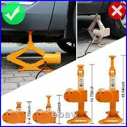 3 Ton Automotive Electric Scissor Car Jack Lift Auto Repair 12V DC Floor Lift