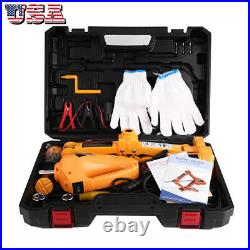 3 Ton Automotive12V Electric Scissor Car Floor Lift Van Garage With Case
